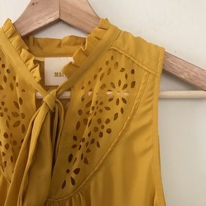 Anthropologie Tops - Anthro Maeve Lucca Neck Tie Cutout Blouse